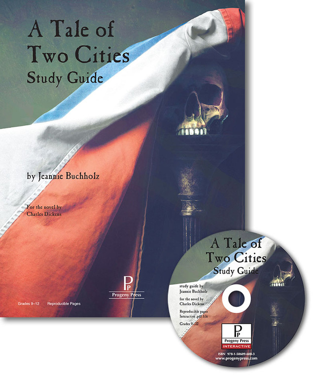 Tale of Two Cities Guide unit study guide lesson plans for literature and reading from a Christian worldview with Biblical integration. Teacher resource curriculum, hands on ideas, projects, worksheets, comprehension questions, and activities.