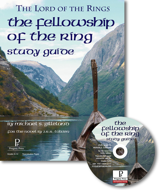 Fellowship of the Ring Study Guide unit studyguide lesson plans for literature and reading from a Christian worldview with Biblical integration. Teacher resource curriculum, hands on ideas, projects, worksheets, comprehension questions, and activities.