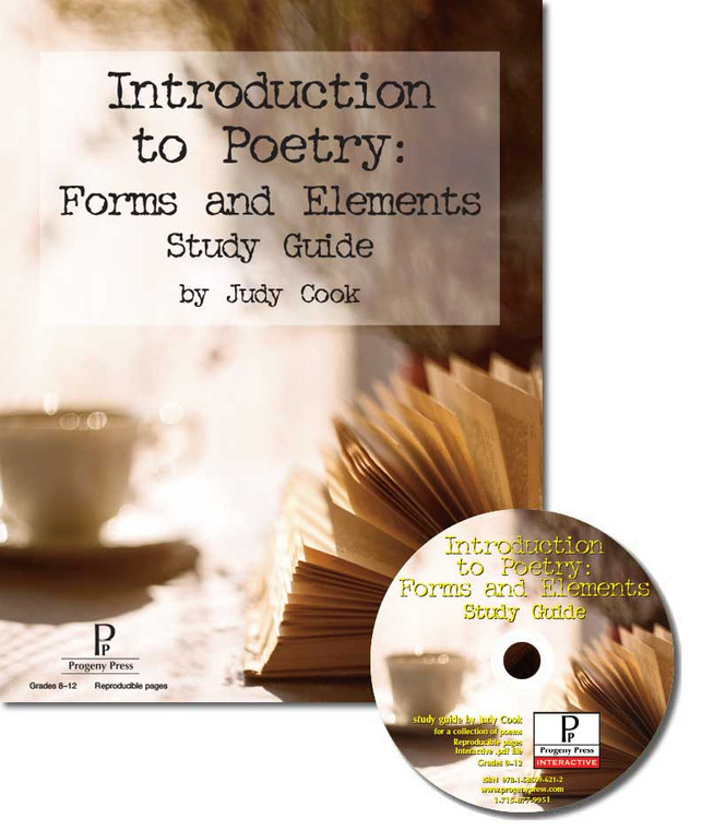 Introduction to Poetry: Forms and Elements Study Guide unit study guide lesson plans for literature and reading from a Christian worldview with Biblical integration. Teacher resource curriculum, hands on ideas, projects, worksheets, comprehension questions, and activities.