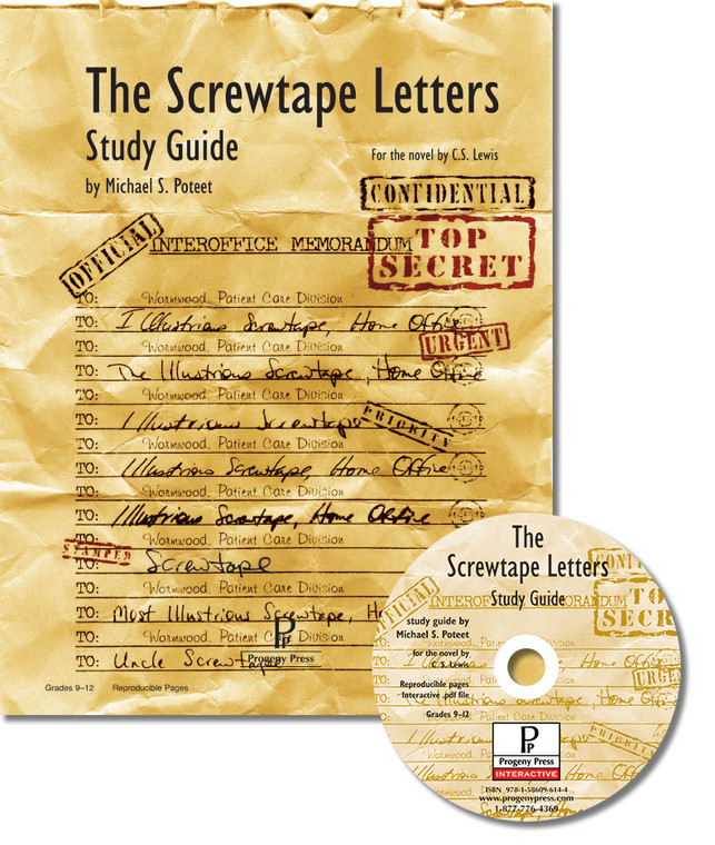 The Screwtape Letters Study Guide unit studyguide lesson plans for literature and reading from a Christian worldview with Biblical integration. Teacher resource curriculum, hands on ideas, projects, worksheets, comprehension questions, and activities.