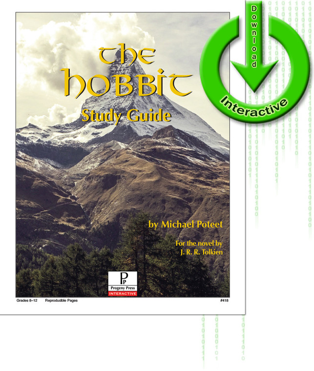 The Hobbit by J.R.R. Tolkien unit study guide lesson plans for literature and reading from a Christian worldview with Biblical integration. Teacher resource curriculum, hands on ideas, projects, worksheets, comprehension questions, and activities.