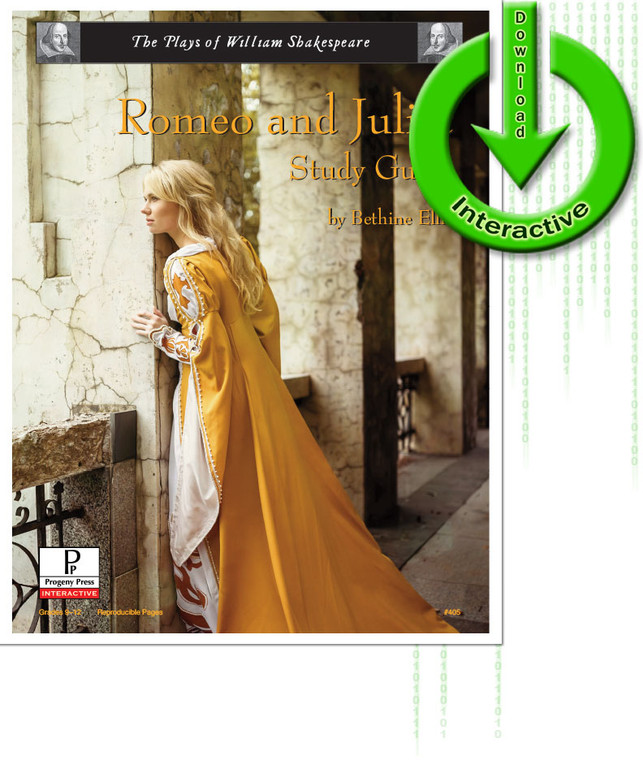 Romeo and Juliet by William Shakespeare, unit study guide lesson plans for literature and reading from a Christian worldview with Biblical integration. Teacher resource curriculum, hands on ideas, projects, worksheets, comprehension questions, and activities.