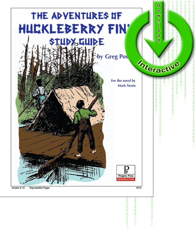 Adventures of Huckleberry Finn Study Guide, unit studyguide lesson plans for literature and reading from a Christian worldview with Biblical integration. Teacher resource curriculum, hands on ideas, projects, worksheets, comprehension questions, and activities, Adventures of Huckleberry Finn, Mark Twain