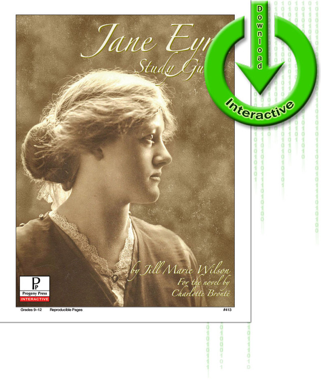 Jane Eyre by Charlotte Bronte, unit study guide lesson plans for literature and reading from a Christian worldview with Biblical integration. Teacher resource curriculum, hands on ideas, projects, worksheets, comprehension questions, and activities.
