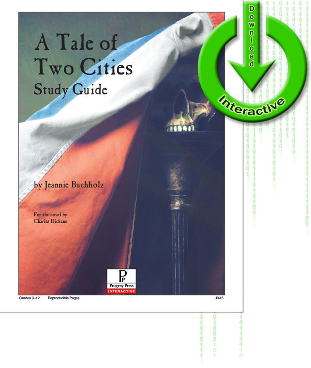 Tale of Two Cities by Charles Dickens unit study guide lesson plans for literature and reading from a Christian worldview with Biblical integration. Teacher resource curriculum, hands on ideas, projects, worksheets, comprehension questions, and activities.