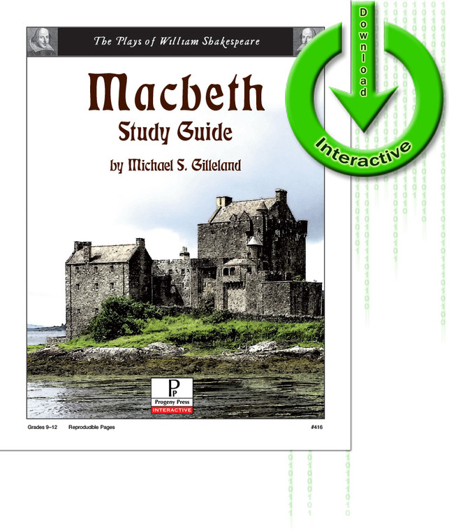 Macbeth Guide unit studyguide lesson plans for literature and reading from a Christian worldview with Biblical integration. Teacher resource curriculum, hands on ideas, projects, worksheets, comprehension questions, and activities.