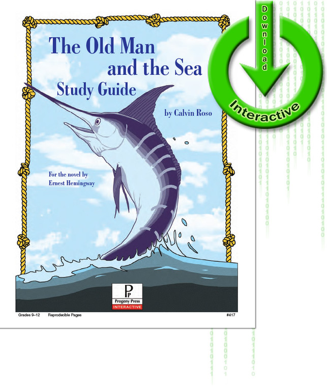 The Old Man and the Sea by Ernest Hemingway unit study guide lesson plans for literature and reading from a Christian worldview with Biblical integration. Teacher resource curriculum, hands on ideas, projects, worksheets, comprehension questions, and activities.