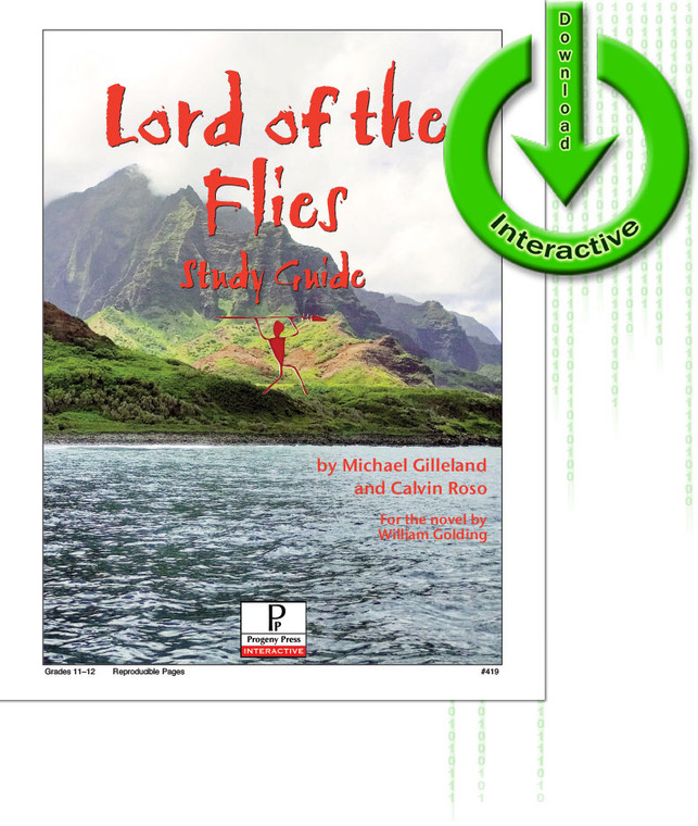 The Lord of the Flies Study Guide unit studyguide lesson plans for literature and reading from a Christian worldview with Biblical integration. Teacher resource curriculum, hands on ideas, projects, worksheets, comprehension questions, and activities.