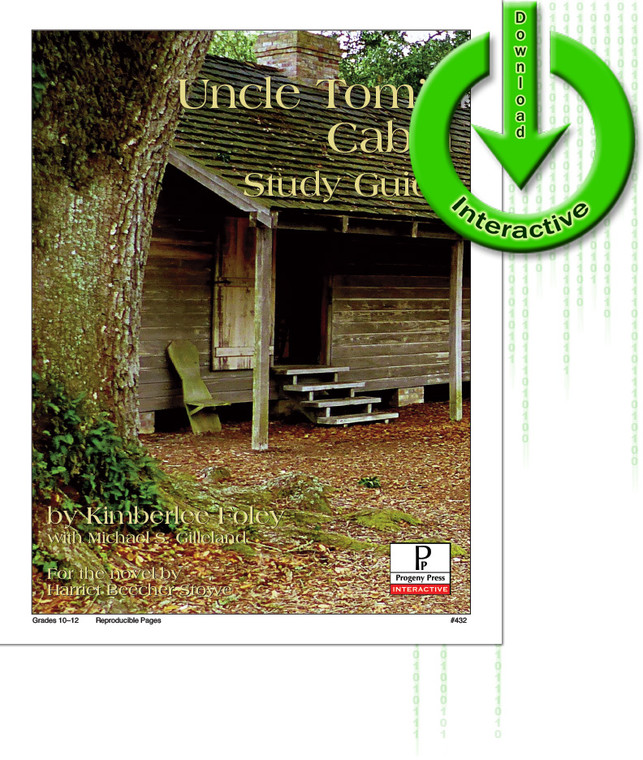 Uncle Tom's Cabin Study Guide unit study guide lesson plans for literature and reading from a Christian worldview with Biblical integration. Teacher resource curriculum, hands on ideas, projects, worksheets, comprehension questions, and activities.