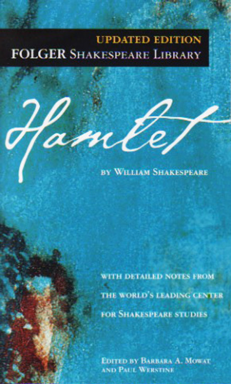 Hamlet story book novel play script by William Shakespeare.  FOLGER Shakespeare Edition. Simon and Schuster.