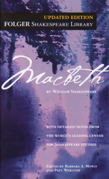 Macbeth play by William Shakespeare, book,  novel, Folger Shakespeare Library, Simon and Schuster