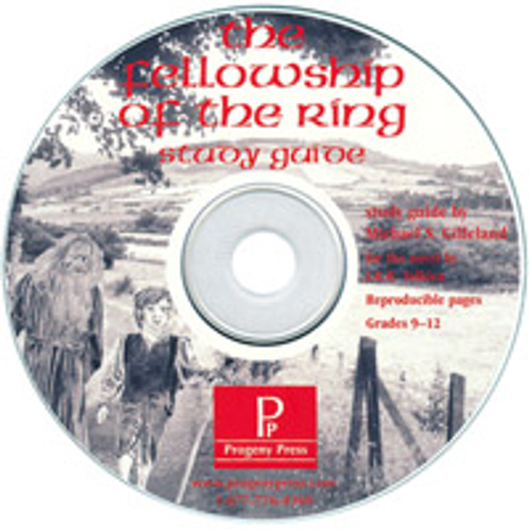 Fellowship of the Ring by J.R.R. Tolkien Study Guide *Print Only CD*  unit studyguide lesson plans for literature and reading from a Christian worldview with Biblical integration. Teacher resource curriculum, hands on ideas, projects, worksheets, comprehension questions, and activities.