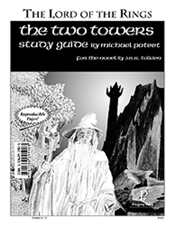 The Two Towers Study Guide unit studyguide lesson plans for literature and reading from a Christian worldview with Biblical integration. Teacher resource curriculum, hands on ideas, projects, worksheets, comprehension questions, and activities.