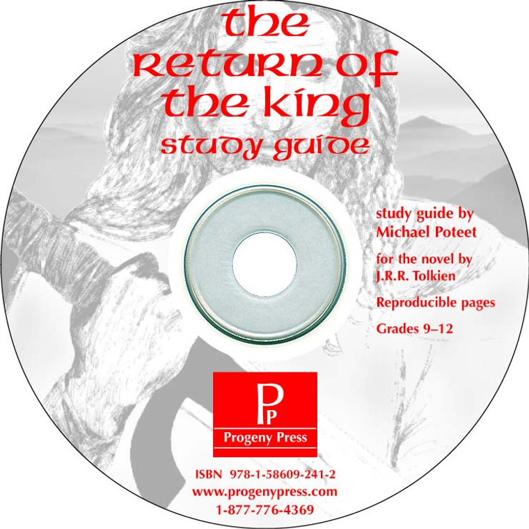 Return of the King Study Guide *Print Only CD* unit studyguide lesson plans for literature and reading from a Christian worldview with Biblical integration. Teacher resource curriculum, hands on ideas, projects, worksheets, comprehension questions, and activities.