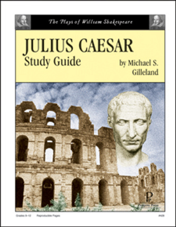 Julius Caesar Study Guide unit study guide lesson plans for literature and reading from a Christian worldview with Biblical integration. Teacher resource curriculum, hands on ideas, projects, worksheets, comprehension questions, and activities.