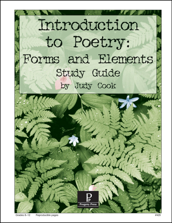 Introduction to Poetry: Forms and Elements Progeny Press unit study guide lesson plans for literature and reading from a Christian worldview with Biblical integration