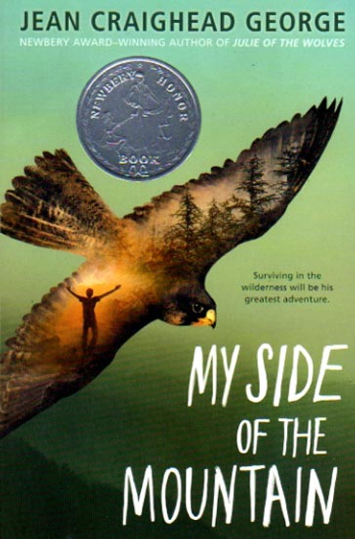 My Side of the Mountain book novel by Jean Craighead George. Newbery Honor. Puffin Penguin Young Reader.