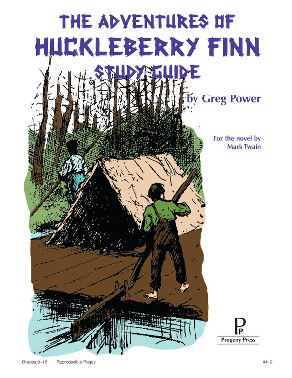 Adventures of Huckleberry Finn by Mark Twain, unit study guide lesson plans for literature and reading from a Christian worldview with Biblical integration. Teacher resource curriculum, hands on ideas, projects, worksheets, comprehension questions, and activities.