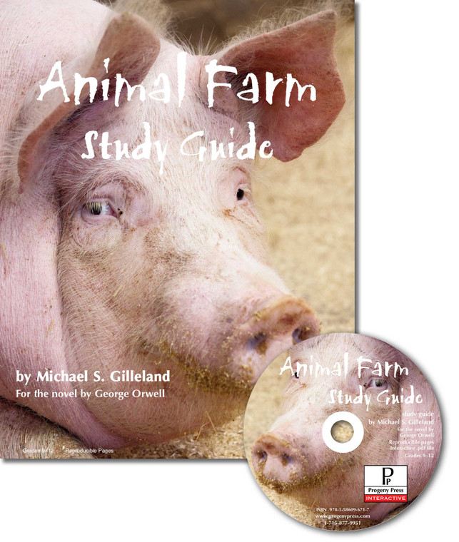 Animal Farm Study Guide unit study guide lesson plans for literature and reading from a Christian worldview with Biblical integration. Teacher resource curriculum, hands on ideas, projects, worksheets, comprehension questions, and activities.