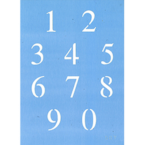 "1"" Times New Roman Number Set"