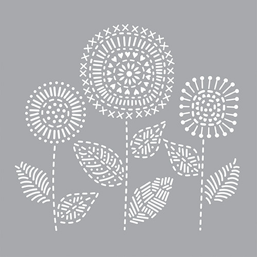DFS207-K Stitched Flower Bunch
