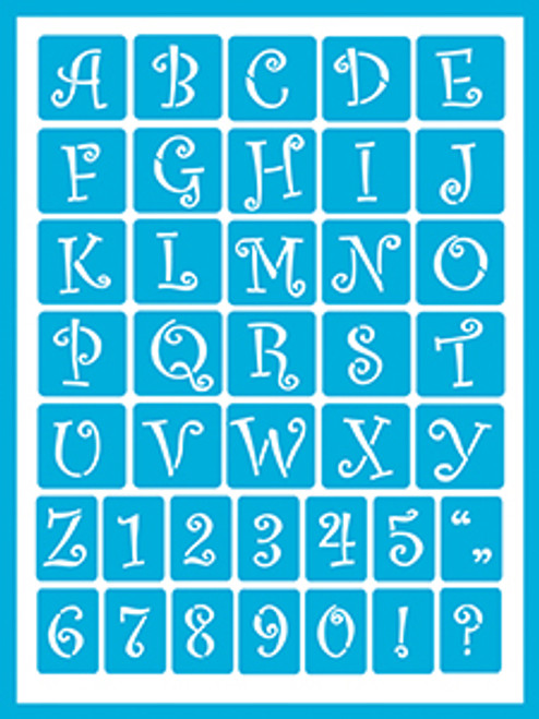 Curly Alphabet 2
