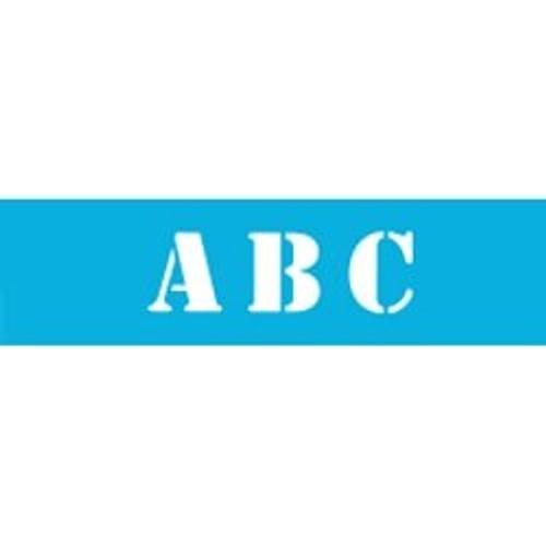 Stencil Font Alphabet