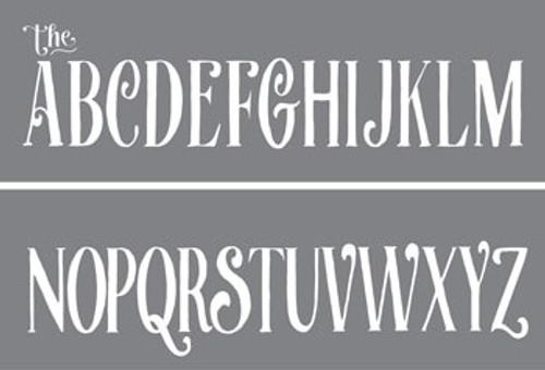 ADS318-K Curly Alphabet