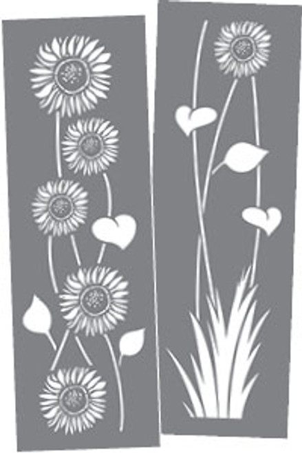 DecoArt Sunflower Americana Decor Stencil Original Version 6 by 6