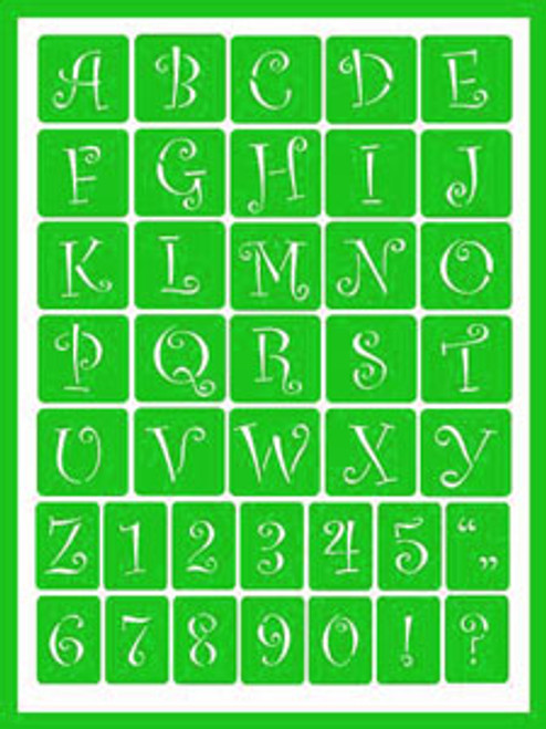 Curly Alphabet 2 (Green)