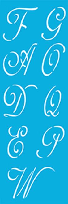 """3"""" Monogram Alphabet Stencil"""