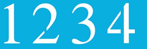 "5"" Times New Roman Number Stencils"