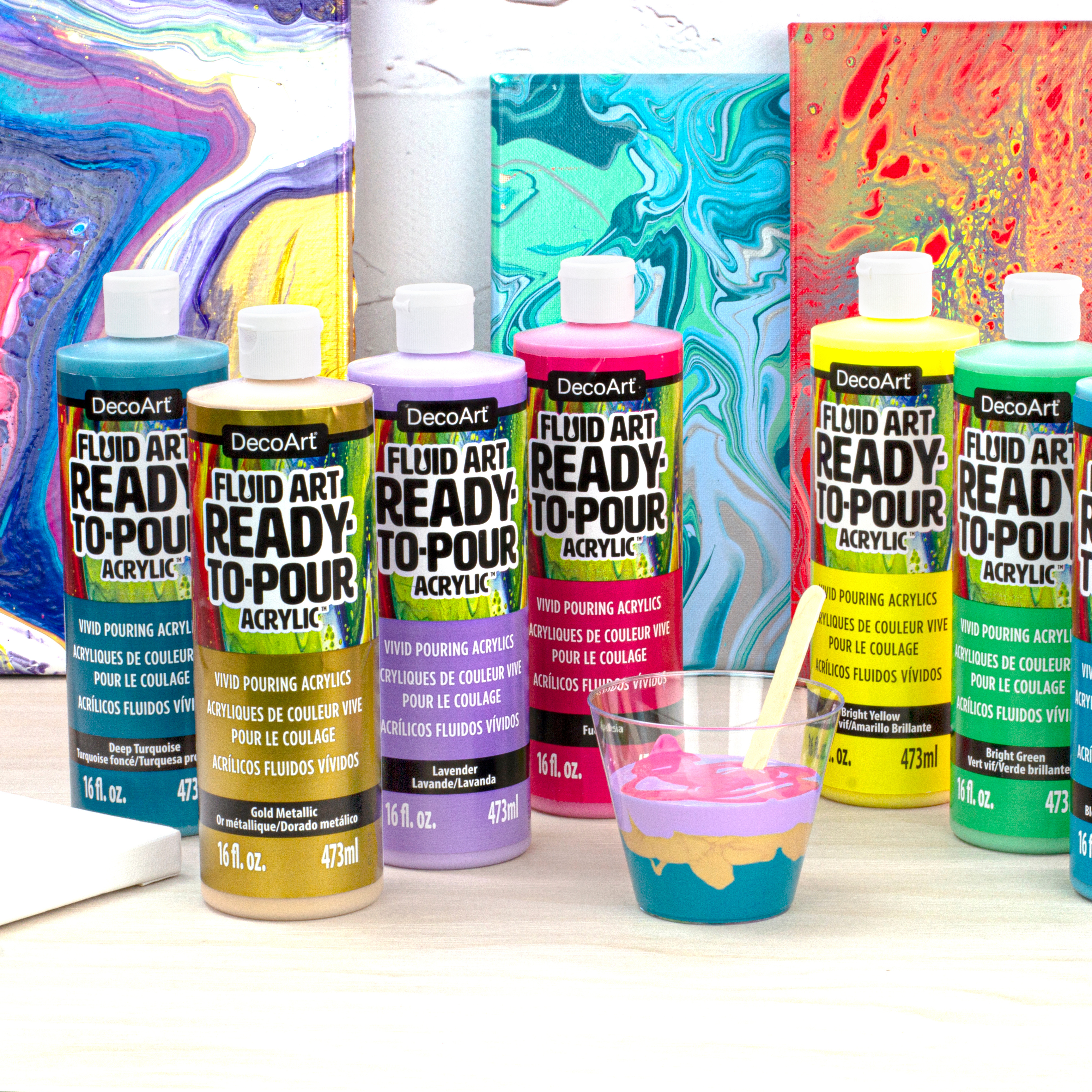 Fluid Art Ready to Pour Acrylics Product Image