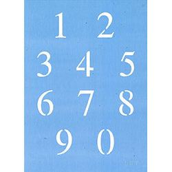 "1"" Times New Roman Number Set Product Image"