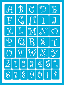 Curly Alphabet 2 Product Image