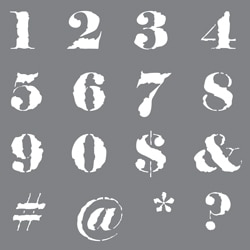 Distressed Numbers Product Image