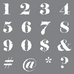 ASMM32-K Distressed Numbers Product Image