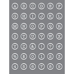 Button Alphabet