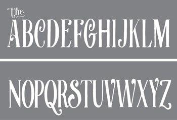 Curly Alphabet