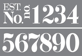 ADS321-K Classic Numbers Product Image