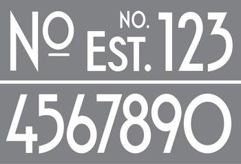 ArtDeco Numbers Product Image