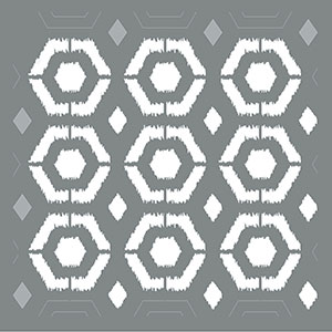 Ikat Hexagon Product Image