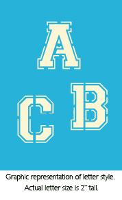 """2"""" Varsity Alphabet Product Image"""