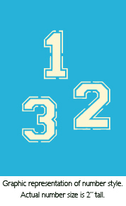 """2"""" Varsity Numbers Product Image"""