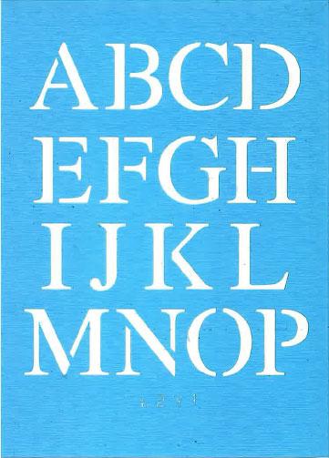 "1"" Times New Roman Letter Set"