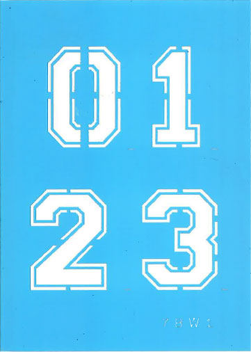 "2"" Varsity Number Set Product Image"