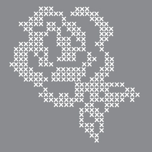 Cross Stitch Rose Product Image