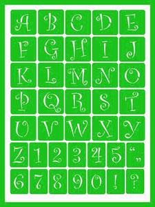 Curly Alphabet 2 (Green)