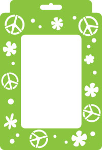 Peace Picture Frame Stencil Product Image