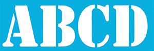 """5"""" Stencil Font Alphabet Stencil Product Image"""